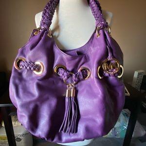 Michael Kors Hobo Leather Bag Purse Gold Hardware